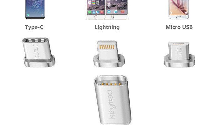 Kaymao magnetic cable - Lightning, type-c and microUSB cable