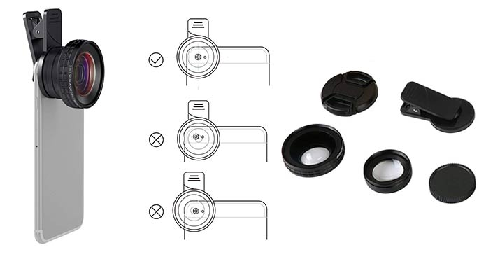 Aukey Ora iPhone Clip on lens - Affordable iPhone photography accessories for 2021