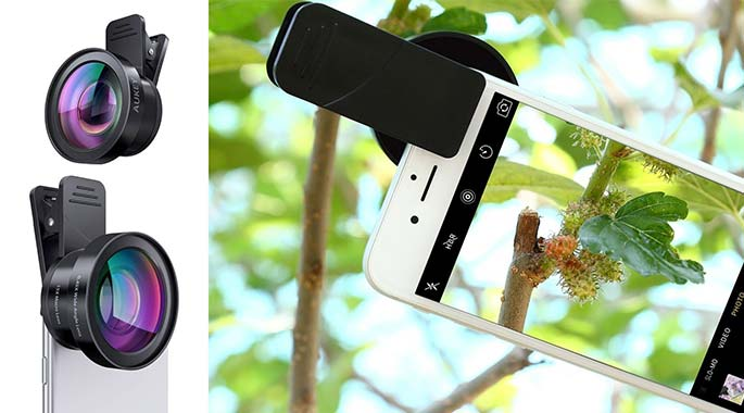 Aukey Ora iPhone Clip on lens - iPhone photography accessories