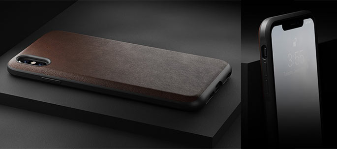 Nomad Rugged leather case for iPhone Xs - Leather iPhone accessories