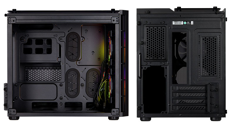 Corsair Crystal 280X RGB - Mini-ITX RGB PC case internal Design