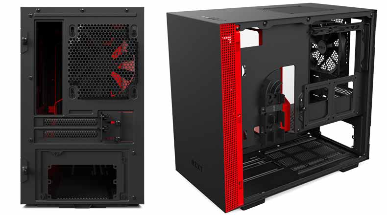 NZXT H200i - Back and right side panel - cable management