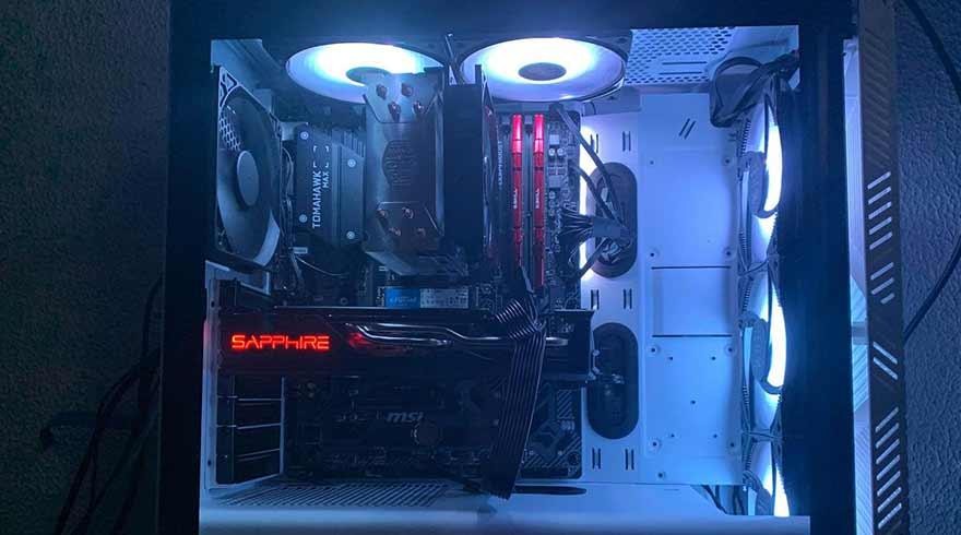 Cooler Master Hyper 212 Evo CPU Cooler with an AMD Ryzen 5 3600