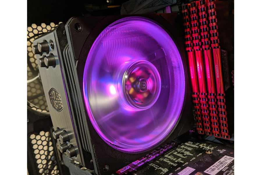 Cooler Master Hyper 212 Evo RGB Black CPU Cooler with an AMD Ryzen 5 3600
